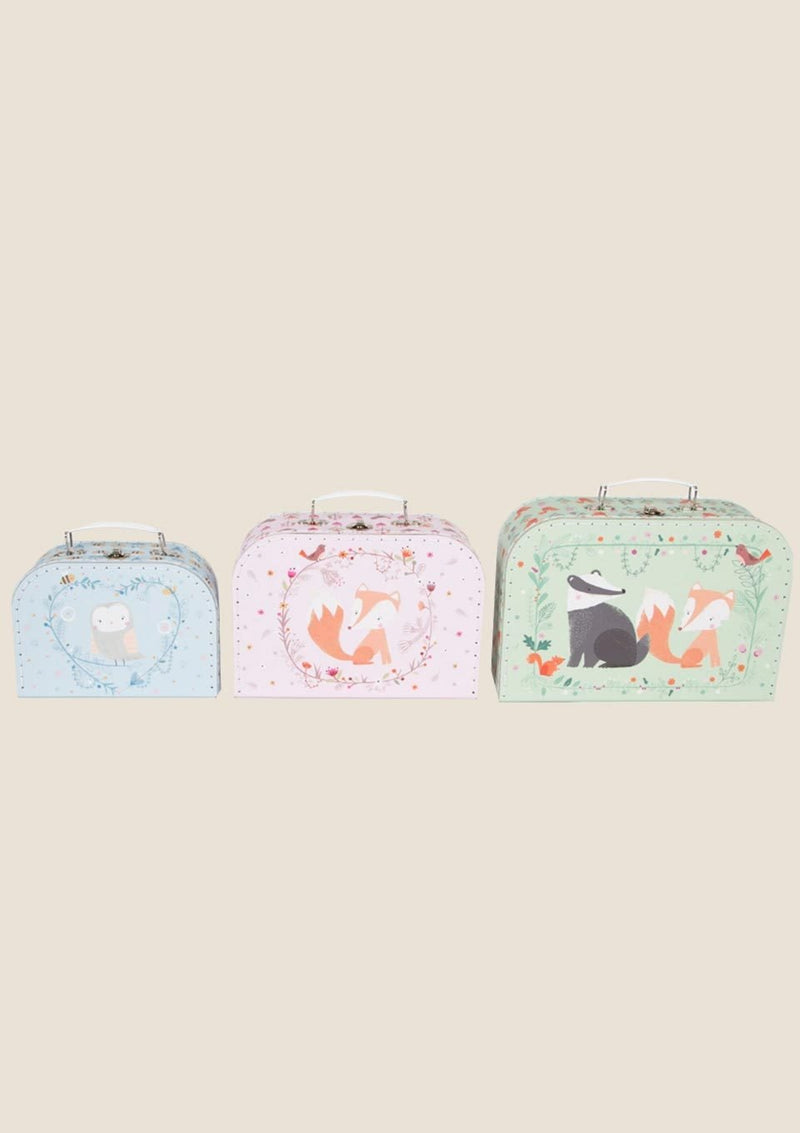 Sass & Belle Kofferset Woodland Friends 3er Set - tiny-boon.com