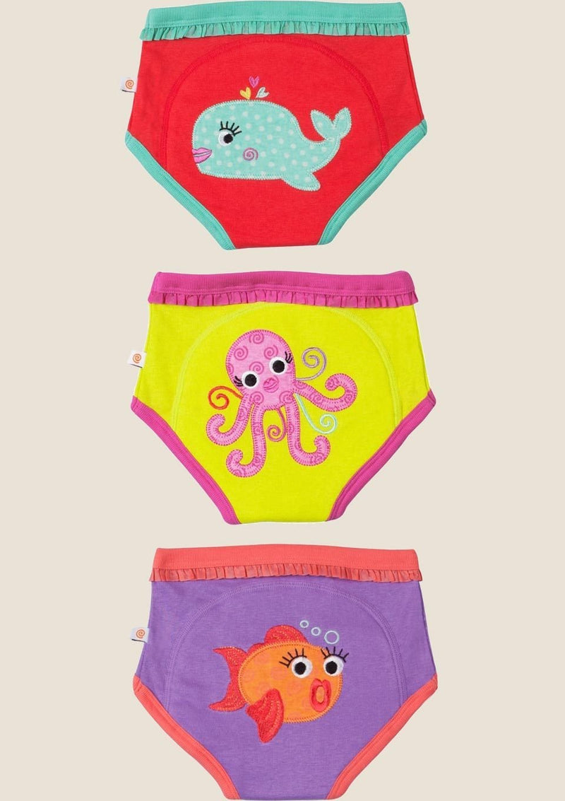 Zoocchini Trainingshöschen Girls Ocean Friends 3er-Set Größe 2-3 Jahre - tiny-boon.com