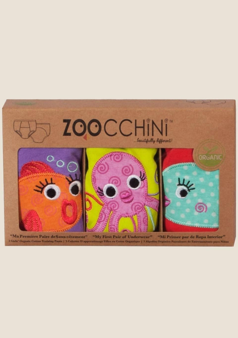 Zoocchini Trainingshöschen Girls Ocean Friends 3er-Set Größe 3-4 Jahre - tiny-boon.com