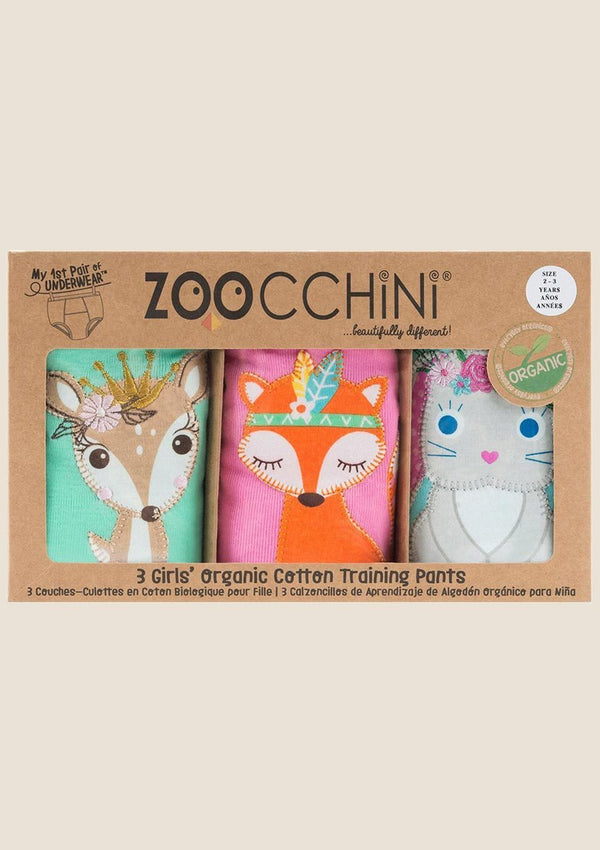 Zoocchini Trainingshöschen Woodland Princesses 3er-Set - tiny-boon.com