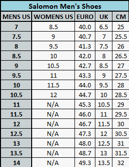 asics youth size chart