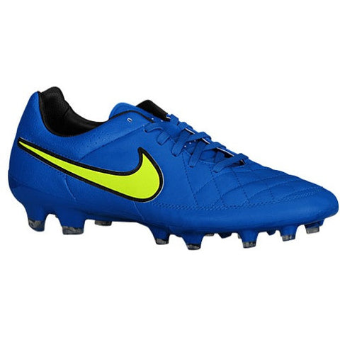 Size 6 - Nike Tiempo Legacy Leather FG - Mens Football Boots - Soar/Volt Clearance
