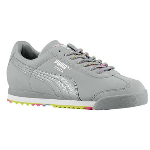 Size 3.5 - PUMA Roma - Big Kids Casual Shoes - Limestone Grey Clearance