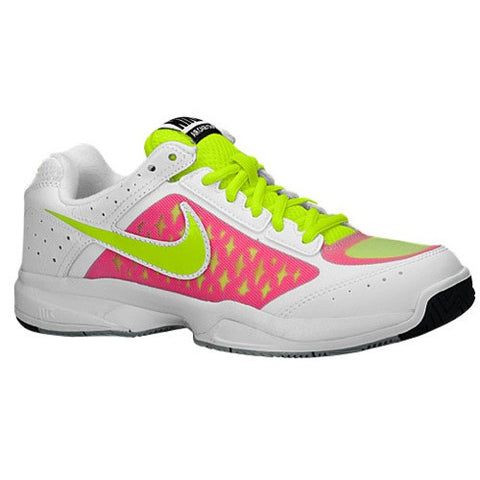 Size 12 - Nike Air Cage Court - Womens - White/Pink Pow/Grey Mist/Volt Width - B - Medium Clearance