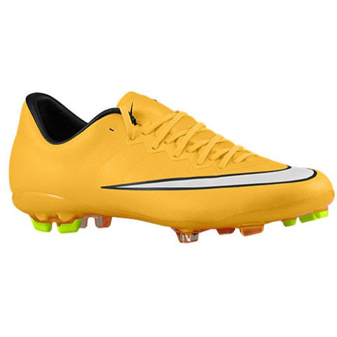 Size 3.5 - Nike Mercurial Vapor X FG - Big Kids Football Boots - Laser Orange/Black/Volt/White Clearance