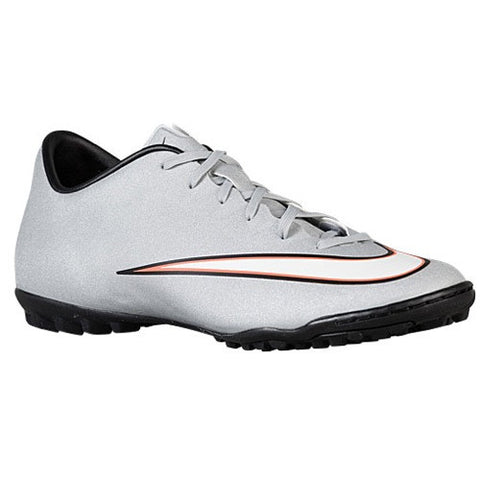Size 11 - Nike Mercurial Victory V CR7 TF - Mens Soccer Shoes - Metallic Silver/Hyper Turq/Black Clearance