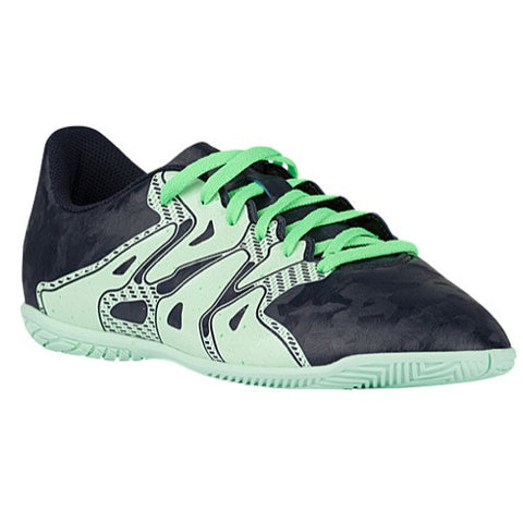 Size 5 - adidas X 15.4 IN - WM - Womens Indoor Soccer Shoes - Night Navy/Frozen Green/Flash Green Clearance
