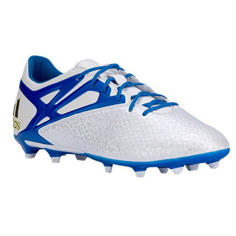 Size 6.5 - adidas Messi 15.2 FG - Mens Football Boots - White/Prime Blue/Black Clearance