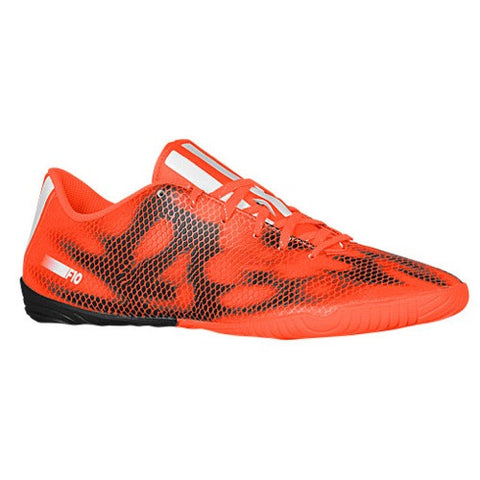 Size 11 - adidas F10 IN - Mens Indoor Soccer Shoes - Solar Red/Core White/Black Clearance