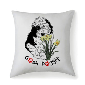 GOSH DOGGIT THROW PILLOW
