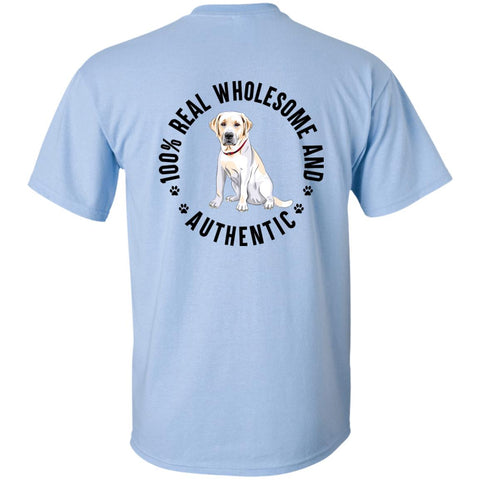 100% REAL, WHOLESOME AND AUTHENTIC LABRADOR YOUTH TSHIRT - Loves Creations Inc