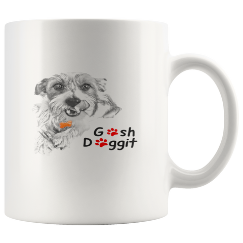 GOSH DOGGIT TERRIER MUG