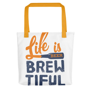 LIFE IS BREWTIFUL TOTE BAG