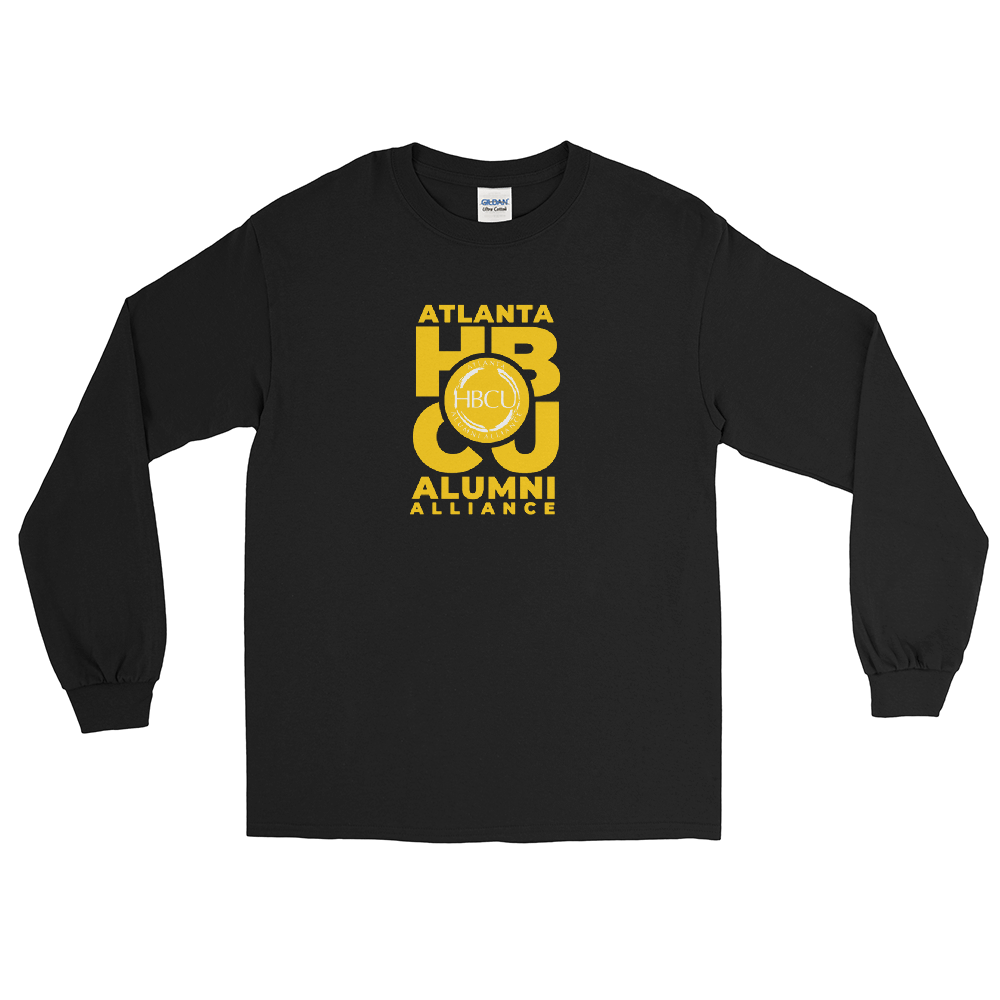 Yellow on Black Men's Long Sleeve Shirt