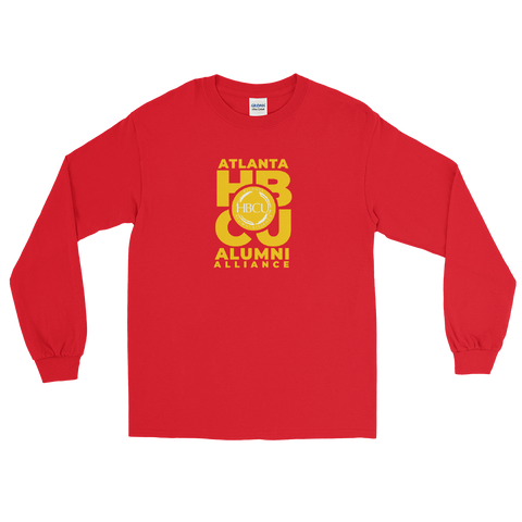Yellow on Red Men's Long Sleeve Shirt