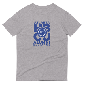 Blue on Grey Short-Sleeve T-Shirt