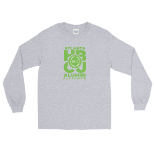 Green on Grey Men's Long Sleeve Shirt