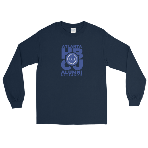Blue on Navy Men's Long Sleeve Shirt