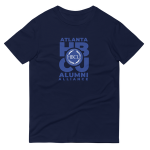 Blue on Navy Short-Sleeve T-Shirt