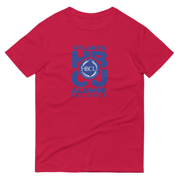 Blue on Red Short-Sleeve T-Shirt