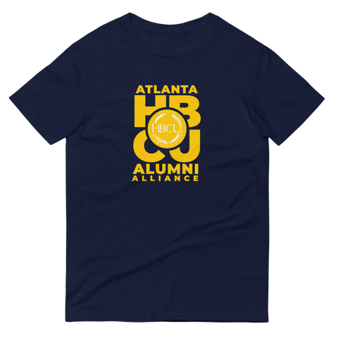 Yellow on Navy Short-Sleeve T-Shirt