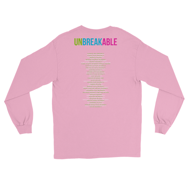 Pink on Green Men's Long Sleeve Shirt