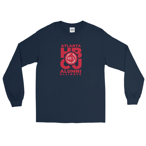 Red on Navy Men's Long Sleeve Shirt