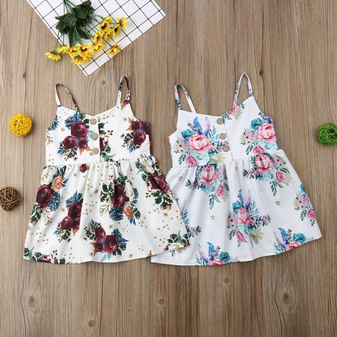 Cute Baby Girls Flower Princess Dress