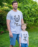 Family Matching Outfits T Shirt Bear Printed