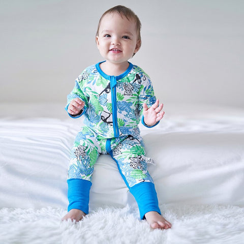 Baby Boys Long Sleeve Leaf Jumpsuits