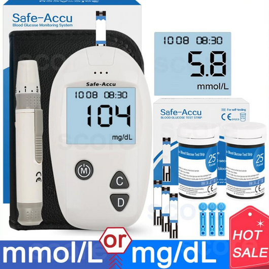 SAFE-ACCU BLOOD GLUCOMETER