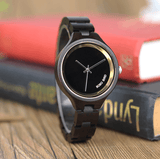 Luxury Ebony / Maple woman watch