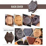 4a-Personality Creative Design Logo MESSAGE Engraved Carved Customize ONLY Logo cost Laser Charge No Watch