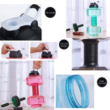 Novelty Large Capacity Water Bottle 2.5L Dumbbells Shaped Water Bottle Plastic Gym Outdoor Sports Equipments Fitness Kettle