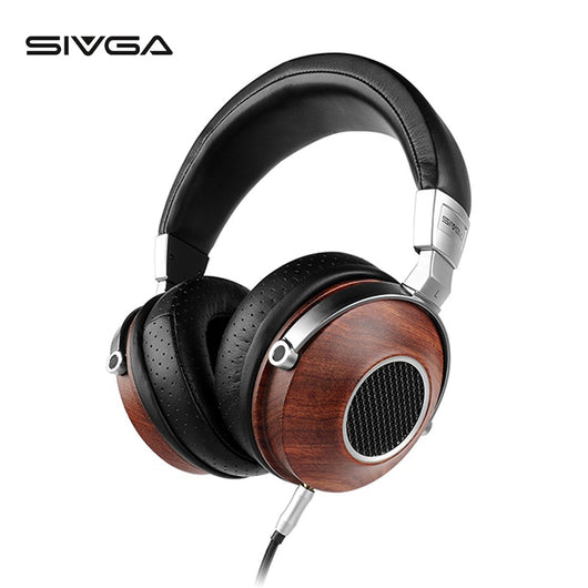 Wooden BASS HiFi Headphones by SIVGA