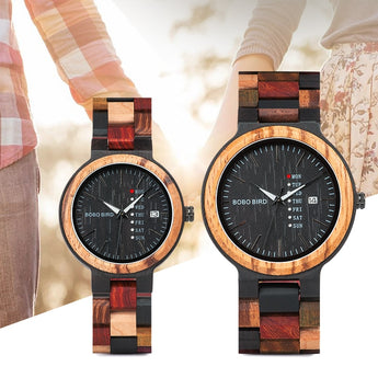 Wooden couples watch
