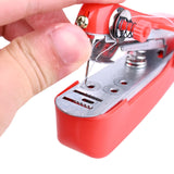 Anpro Portable Mini Manual Sewing Machine Quick Stitch Simple Operation Sewing Cloth Fabric Household Handheld Needlework Tool