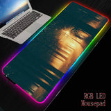 MRGBEST Woodland Scenery Sunlight RGB Soft Large Gaming Mouse Pad Oversize Glowing Led Extended Mousepad Base ComputerPad Mat