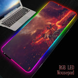 MRGBEST RGB Soft Large Gaming Mouse Pad CSGO GO Oversize Glowing Led Extended Mousepad Computer Keyboard Pad Mat Dropshipping