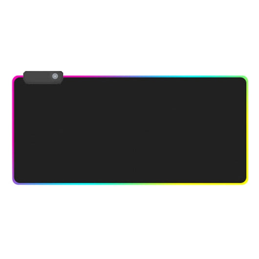 Gaming Mouse Pad Rgb Oversized Glowing Led Extended Illuminated Keyboard Thicken Colorful For Pc Computer Laptop(L)