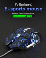 Pro Gamer Gaming Mouse 3200DPI Adjustable Wired Optical LED Computer Mice USB Cable Silent Mouse for Laptop PC Mousepad Tablet
