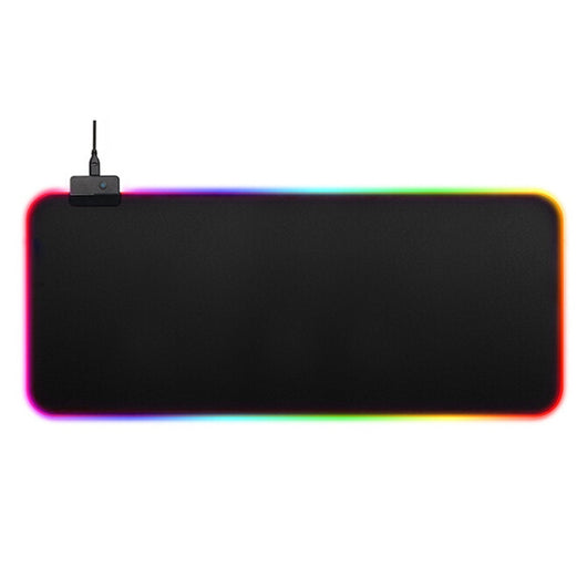 Luminous Gaming Mouse Pad Rgb Oversized Glowing Led Extended Illuminated For Pc Computer Laptop