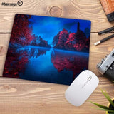 MRGBEST RGB Soft Large Gaming Mouse Pad Oversize Led Extended Mousepad Non-Slip Rubber Computer Keyboard Pad Natural Scenery
