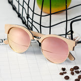 OUT-Timeless classic wooden sunglasses for women