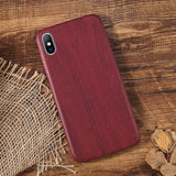3-Lovebay PU Case Cover For Iphone 6 6S 7 7plus 8 Plus Wood Grain Yellow Soft Phone Cases For Iphone XS Max XR X Luxury Back Cover