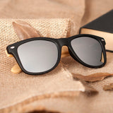 Handmade wooden sunglasses / black frame