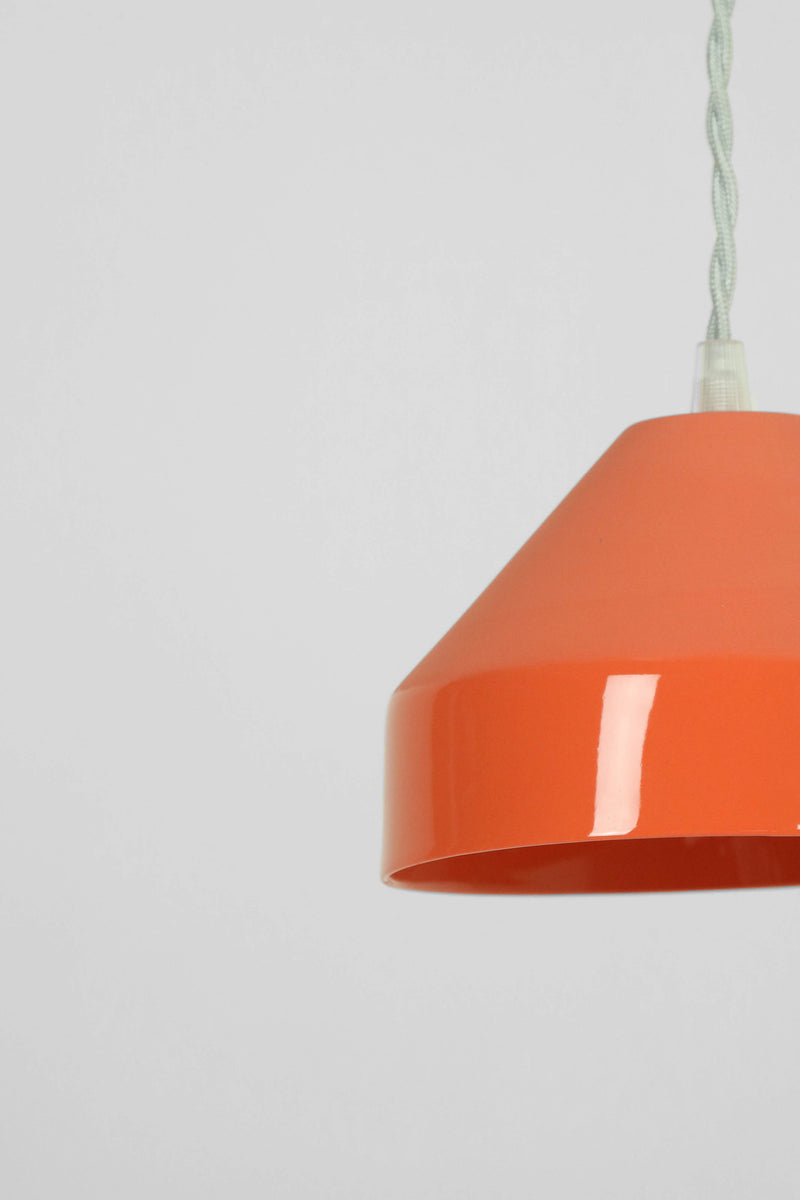 Suspension Piccolo Pia porcelaine orange, Cléo Joffre - Maison Élémentaire