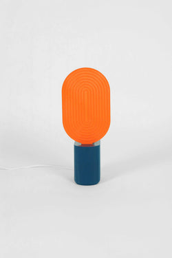 Lampe à poser Neptune bleue et orange, UAU Project - Maison Élémentaire
