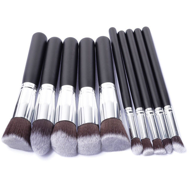10 Pcs Makeup Brushes Set