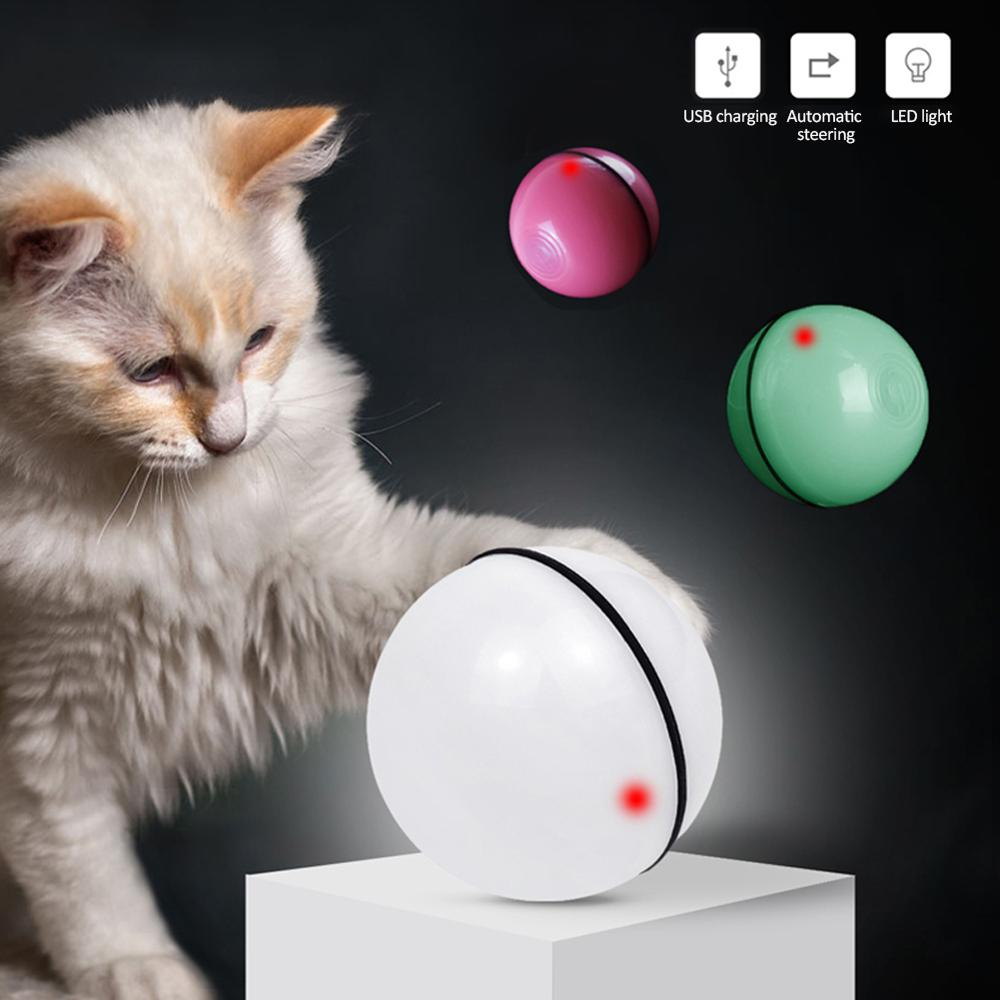 Smart Funny Cat Toy LED Light Free Ball USB Charging